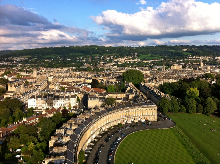 Royal Crescent from the air