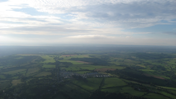 Bath countryside from above
