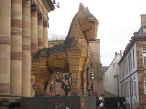 Wooden Strasbourg horse