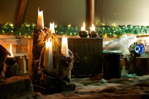 Sami tent candles