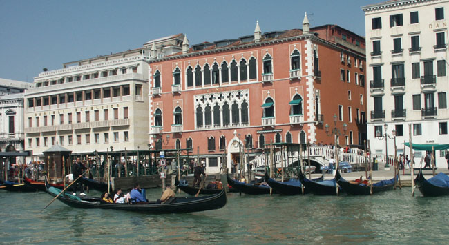 Venice view Moorish gothic buildings