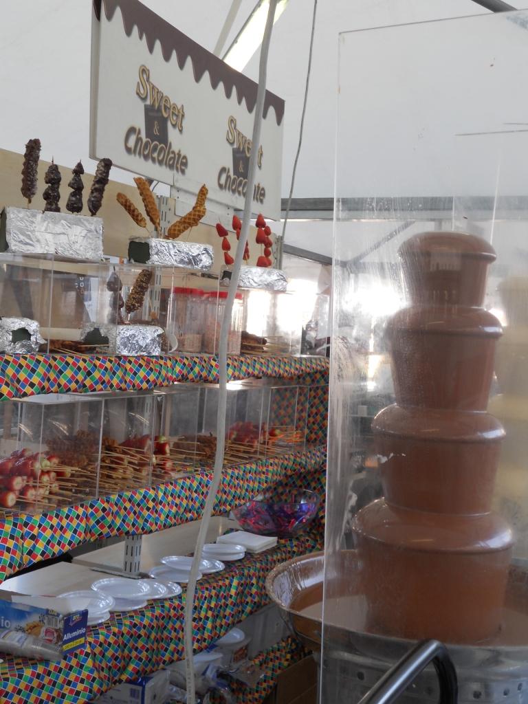 Photo of chocolate fountain at Cioccolato in Turin