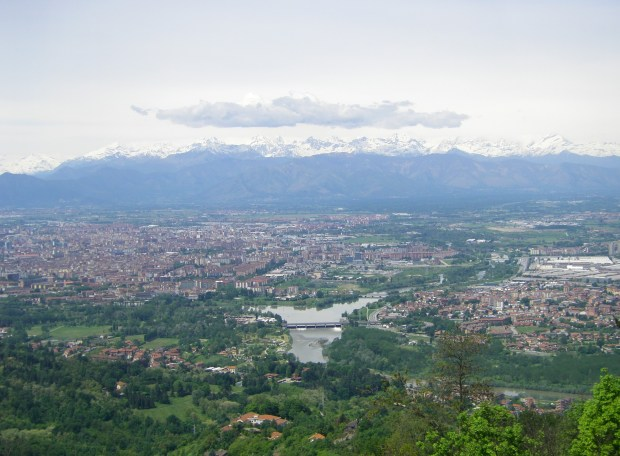 View of the Alps from Turin