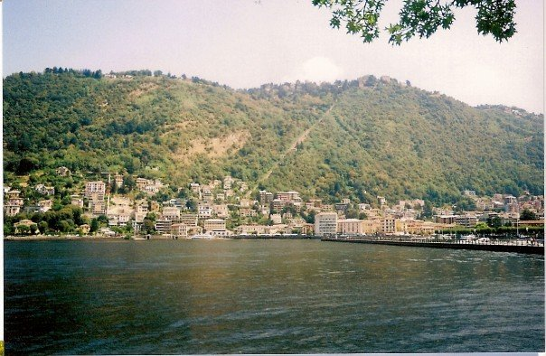 A view across Lake Como towards the funicular. Again courtesy of my old camera.