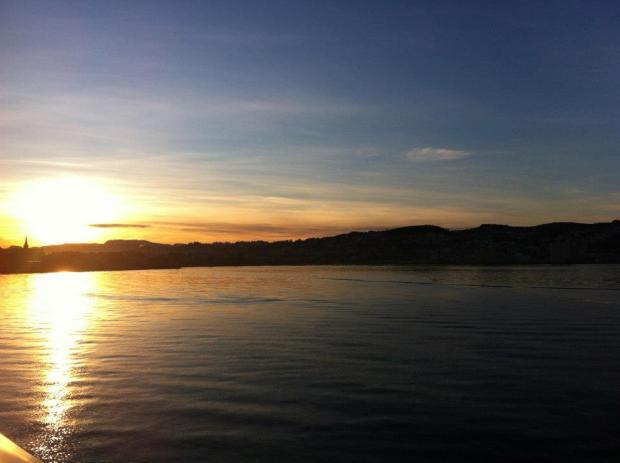 Trondheim sunset view